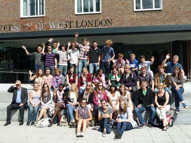 Photo of students on 2011 Multinational Youth Exchange
